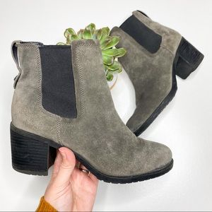Steve Madden Dover Grey Suede Ankle Boots Size 8.5